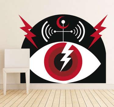 Sticker Pearl Jam lightening bolt
