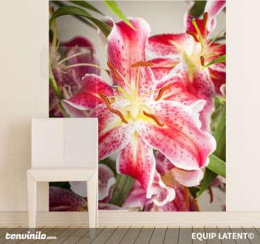 Sticker foto gedetailleerde bloem