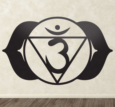 Decorate your home with this beautiful wall sticker from the Chakra Ajna (brow chakra).