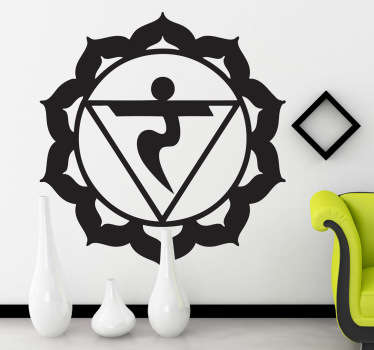 Decorate your home with this beautiful wall sticker of the Manipura Chakra (solar plexus).