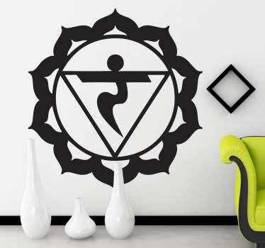 Sticker decorativo chakra manipuracakra