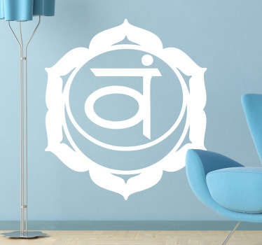 Svadhishthana Chakra wall sticker is the creative flow of pure life energy, our relationship to the vitality and passion for life.