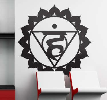 Sticker symbool chakra visuddha