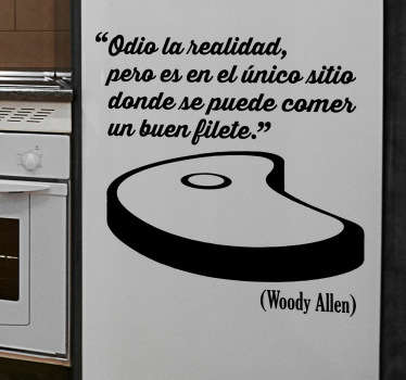 Vinilo decorativo frase buen filete