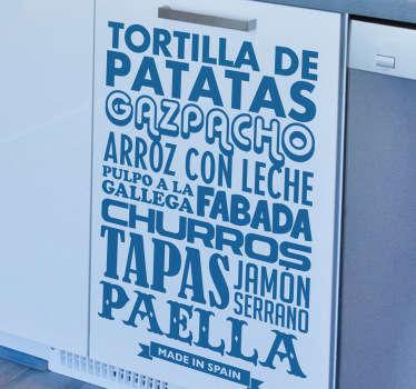 Spanish Cuisine Sticker