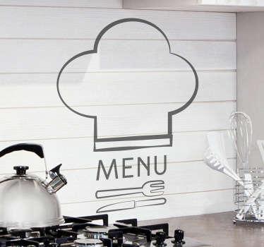 Naklejka dekoracyjna do kuchni logo Menu