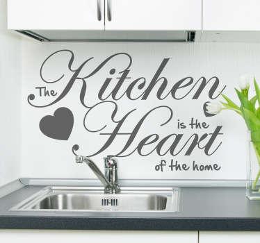 Naklejka na ścianę the heart of the home