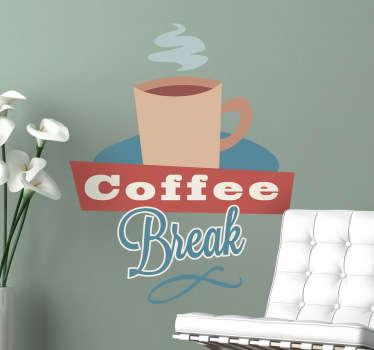 Nalepka na steno kave