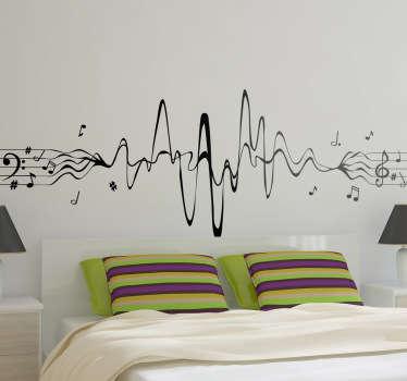 Sticker partition musicale ondes