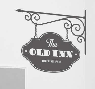 Sticker the old inn pub