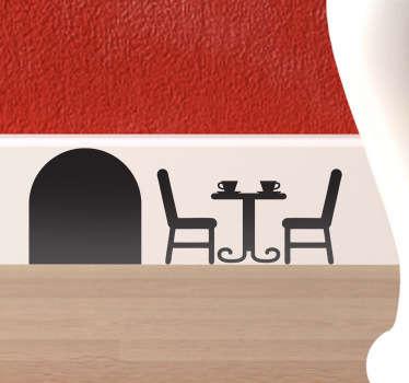 Sticker muizenhol terras tafel