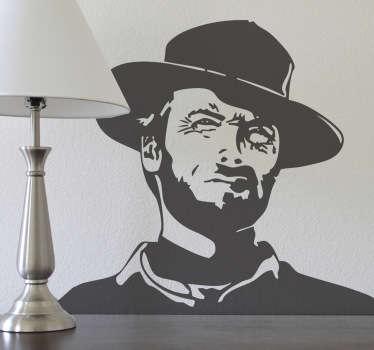 Sticker decorativo Clint Eastwood