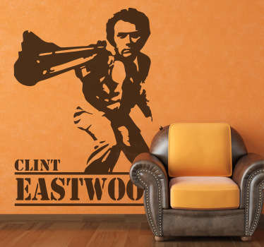 Deze sticker omtrent Clint Eastwood spelend in Dirty Harry. Ideaal voor fans van deze films of acteur.