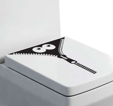 Monster Zip Toilet Sticker