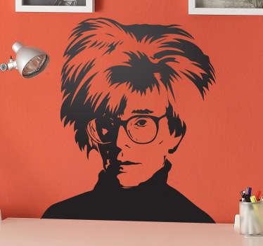 Autocollant mural portrait Andy Warhol