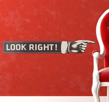 Look Right Decal