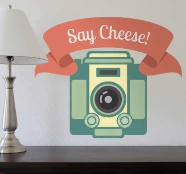 Naklejka na ścianę say cheese