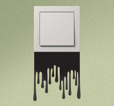 Dripping Paint Switch Wall Sticker