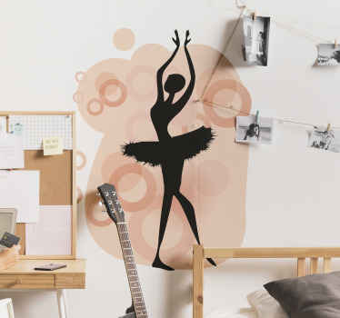 Room Stickers - a silhouette of a ballerina. Great wall sticker for those who have an interest in the art of ballet.