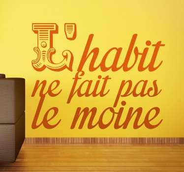 Sticker texte habit moine
