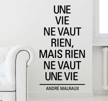 Sticker citation André Malraux