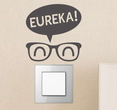 Fun decal in which you will be able to illuminates the ideas of this funny character with glasses.