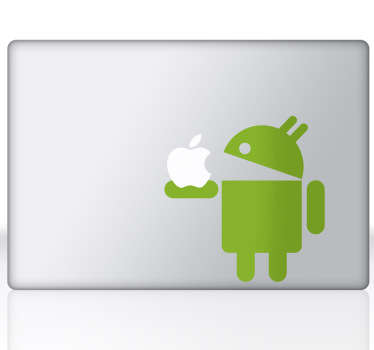 Naklejka na laptopa Android & Apple