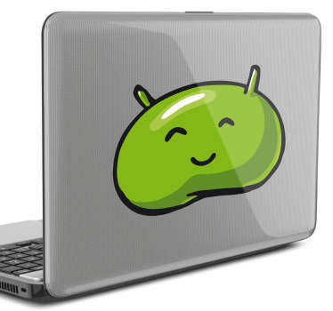Comic Android Logo Laptop Sticker