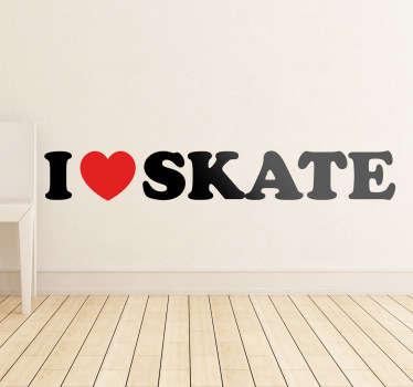 Naklejka I love Skate