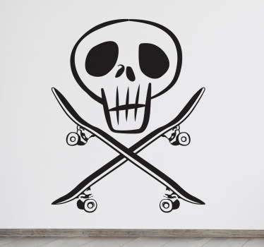 Original wall sticker designed by tenstickers.co.uk for all those fans of the world of skateboarding.