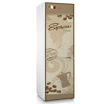 Vinil decorativo para frigorífico café italiano