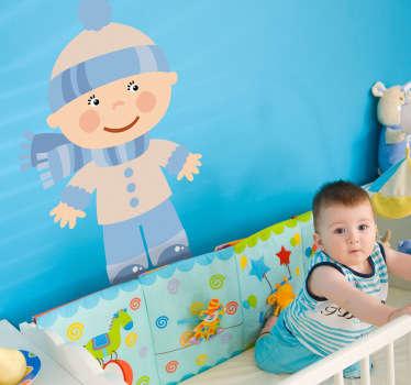 Sticker enfant bébé neige