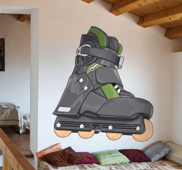 If you are a fan of the world of skating, then decorate your room with this realistic illustration.