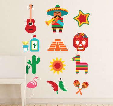 Autocollant mural inspiration du Mexique