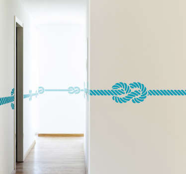 Decorate the wall of your home with design from our collection of sea wall stickers. A fantastic Marine knot border sticker to decorate your home. Super versatile and is available in 50 different colours.
