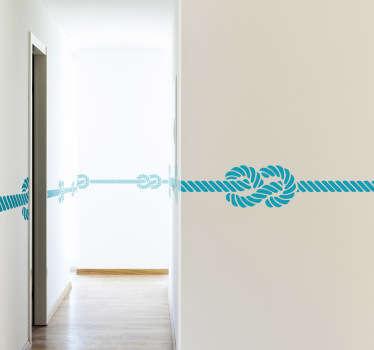 Sticker achtknoop touw marine