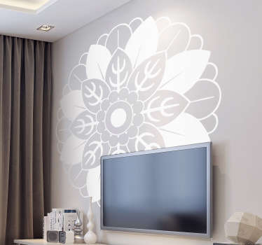 Floral Mandala Wall Decal