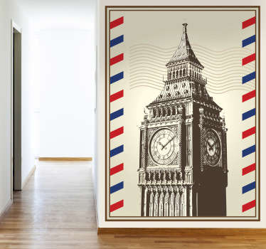 Wandtattoo Briefmarke Big Ben