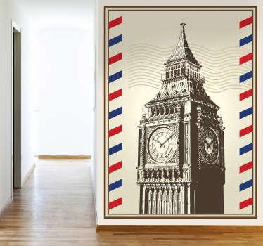 Naklejka znaczek Big Ben Londyn