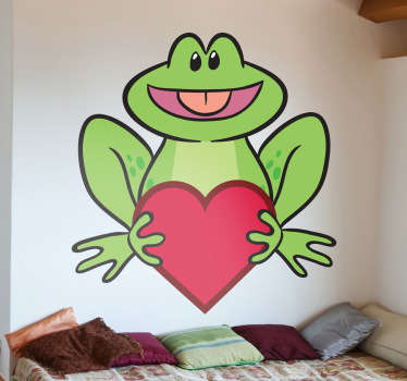 Loving Frog Wall Sticker
