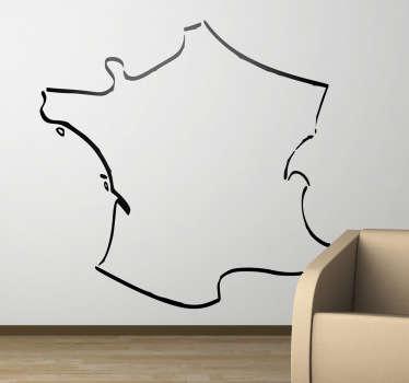 Sticker lijnontwerp Frankrijk