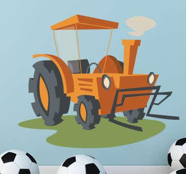 Vinilo infantil ilustración tractor