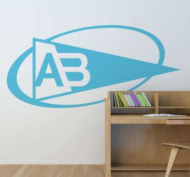 Stickers représentant le logo de l'équipe de rugby Aviron Bayonnais. Super idée déco pour les supporters de ce club de rugby.Choisissez la dimension pour parvenir à la meilleure personnalisation du stickers.