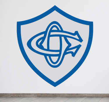 """Un sticker mural représentant le logo de l'équipe de rugby de la ligue Top 14, """"Castres Olympique"""". Dimensions personnalisables. Prix Imbattables."""