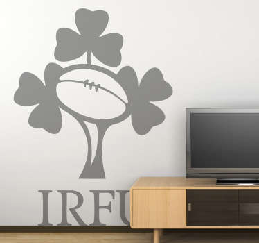 Rugby - Logo illustration of the Irish national rugby union team, who compete annually in the Six Nations Championship