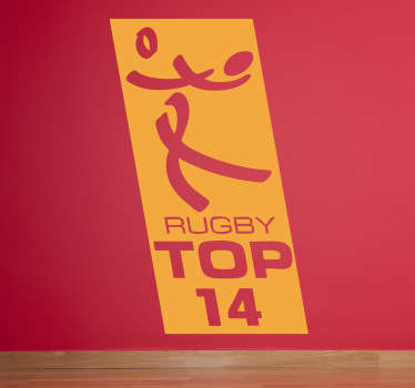 Sticker logo rugby top 14