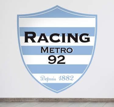 Vinilo escudo Racing Metro