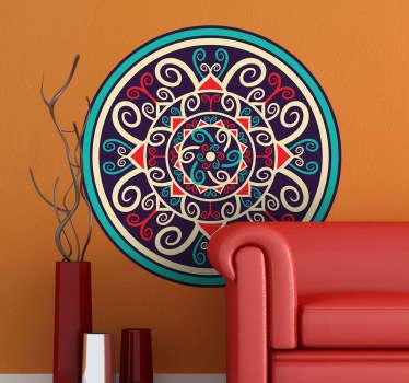 Sticker kleurrijke mandala