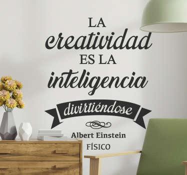 Vinilo frase creatividad Einstein