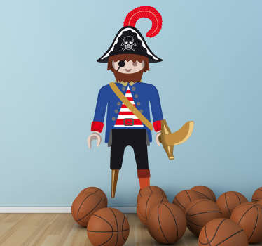 Sticker jeu playmobil pirate